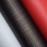 Textured материал обувной кожи мешка PU влажного процесса искусственний