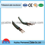 Del PVC del aislante gemelo completamente y cable eléctrico de la tierra