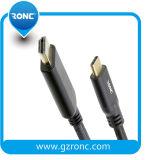 Transmissão de áudio e vídeo de alta velocidade USB 3.0 Cabo do tipo C