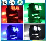 Disco DJ-doppeltes Rad 8X12W RGBW 4 in 1 farbenreiches LED-Doppelt-drehendem Rad-Träger-beweglichem Hauptlicht