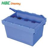 Пластиковый текучести кадров контейнер для хранения с откидной крышки