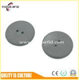 Durable y resistente a alta temperatura 200 grados Lavandería RFID Etiqueta con el tamaño de botón