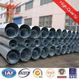 Galvanized Steel Post with Electrical Accessories Pole