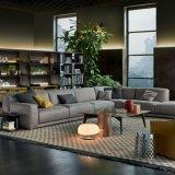 Spugna ad alta densità L sofà del tessuto dell'angolo di figura per la mobilia dell'hotel