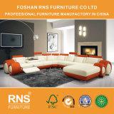 Sofà di cuoio moderno 8059# del sofà di figura del salone U di Hotsale