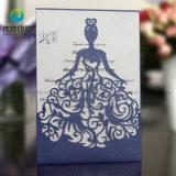 La alta calidad Uniquedesign elegante boda invitación de corte láser de la tarjeta de Princesa