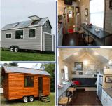 安く小さい家を組み立てる木製の照明灯の鋼鉄