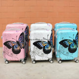 Bw Valise Trolley Pink-Butterfly1-170 bagages Bagages étui rigide pour les voyages