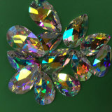 De ovale Vlakke Rug 10*14 naait op het Bergkristal van Strass van het Kristal het Bergkristal van het Kristal Ab (ER02)