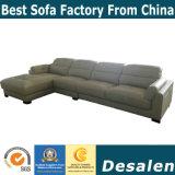 Forme de l canapé en cuir véritable pour les meubles de bureau (B. 909)