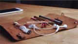 O envoltório do organizador do rolo dos acessórios da eletrônica das chaves dos lápis das penas cabografa o suporte