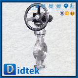 Didtek 100% теста из нержавеющей стали двухстворчатый клапан с Chainwheels