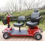 """""""trotinette"""" elétrico das rodas do controlador quatro da página com assentos dobro"""