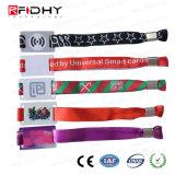 Wristband passivo del tessuto di prezzi di fabbrica di HF RFID per il concerto