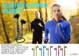 Sport dynamique exécutant l'écouteur sans fil de Bluetooth