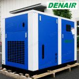 Vent refroidissant la machine exempte d'huile de compresseur d'air de vis d'entraînement à vitesse variable