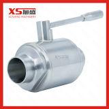 Aço inoxidável SS304 Solda sanitárias de soldar as válvulas de esfera Reta