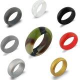 Europen moda las mujeres y hombres de caucho de silicona de los anillos de boda anillos de dedo con el paquete de 7 colores