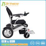 Cadeira de rodas elétrica do curso de pouco peso da dobradura com liga de alumínio