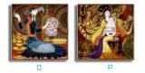 ホーム装飾のための熱い販売の中国の古典的な壁のバックラムの油絵映像