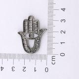 Da mão afortunada de Hamsa da jóia de Foxi pendente Praying do encanto do Zircon