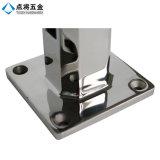 中国の現代デザインFramelessの区分のためのガラス柵の栓