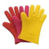 Gants en caoutchouc épais de silicones de mitaines anti-caloriques de four de vaisselle de cuisine pour le traitement au four et le BBQ