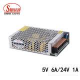 Smun D-50b 5VDC 24VDC는 전력 공급 SMPS 산출 엇바꾸기 이중으로 한다