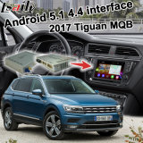 Casella Android di percorso di GPS per l'interfaccia del video di Volkswagen Tiguan Mqb