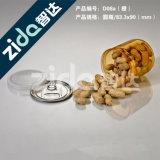 Tarro plástico del caramelo de la boca de Eco del alimento del animal doméstico ancho grande cómodo del almacenaje
