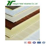 El panel de pared plástico de madera material del compuesto WPC de la decoración casera