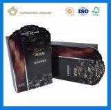 Коробка изготовленный на заказ картона серебра печатание бумажная упаковывая для сливк внимательности волос
