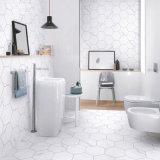 azulejo de suelo de cerámica afilado con piedra hexágono blanco de la porcelana del cuarto de baño de la cocina de la mirada de Carrara del material de construcción 285X330X165 (SP6670)