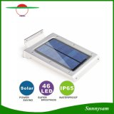 O sensor de movimento IP65 da potência solar de 46 diodos emissores de luz Waterproof lâmpadas solares energy-saving do diodo emissor de luz da luz Emergency da parede do trajeto do jardim