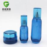 Serie cosmetica di timbratura calda rotonda del pacchetto della bottiglia di vetro