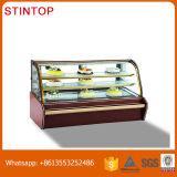 Showcase comercial usado congelador do refrigerador do gás do indicador R134A do bolo para a venda