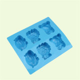 Moulage de silicones d'ours de lion d'hippopotame des cellules Sy03-04-012 6 pour le savon