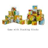 Hölzernes Block-Bauernhof-Puzzlespiel-zackiges Kind-pädagogisches Spielzeug des Puzzlespiel-3D