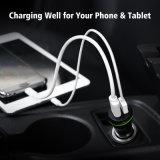 Commerce de gros Téléphone Mobile 5V 2.1A double chargeur de voiture USB