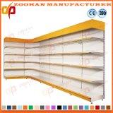 スーパーマーケットの金網の棚(Zhs127)が付いている鋼鉄表示棚