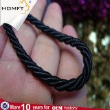 Black Runde Nylonzeichenkette-umsponnenes Seil/Netzkabel für Papier Bag