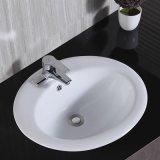Санитарные продовольственный керамические выше Counter раковина для ванной комнаты (T126)