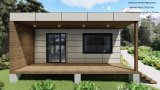 2 20FT Modular Prefabricated Wooden Cladding Holiday Container House Loddge를 결합한다