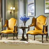 كلاسيكيّة جلد أريكة كرسي تثبيت لأنّ أثاث لازم بيتيّ