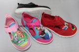 Modèle coloré et beau d'impression, chaussures de toile