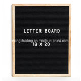 Чернота доски письма чувствовала рамку дуба 16 x 20 дюймов