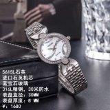 Horloge van het Roestvrij staal van de Pols van het Kwarts van de manier het Nauwkeurige Waterdichte voor Dame