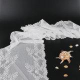 白いレースのトリムの衣服のアクセサリのリボンのトリム