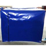 Cubierta resistente azul de la paleta del encerado del PVC con la cremallera de los remaches