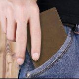 Supporto di scheda del cuoio del raccoglitore dell'uomo di modo per gli uomini